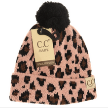 Baby Leopard Single Pom Beanie