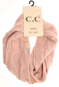 KIDS Solid Cable Knit CC Gloves (Indie Pink)