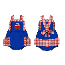 "Infant Girl's ""Take Me Out to the Ballgame"" Baseball Romper"