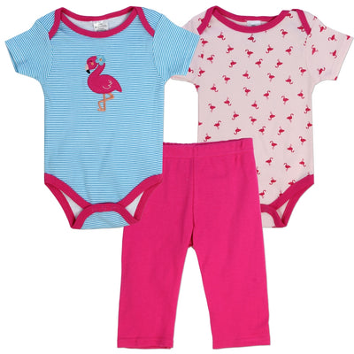 Infant Girls  3PC Flamingo Leggings Set