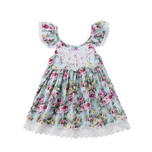 Girl's Flowers & Lace Dress