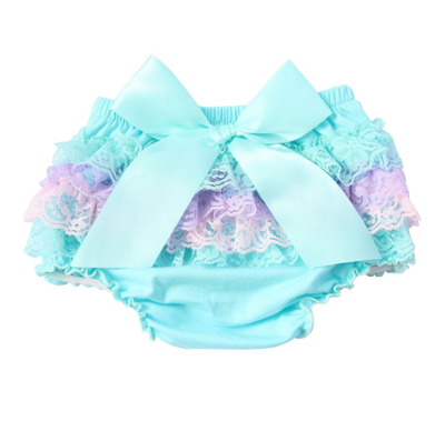 Infant Girl's Satin & Lace Bloomers (Bummies)