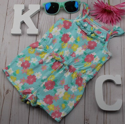 Girl's Koala Baby 1PC Floral Romper- Blue