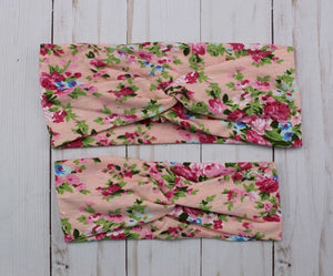 Bright Floral Headband for Mommy & Me