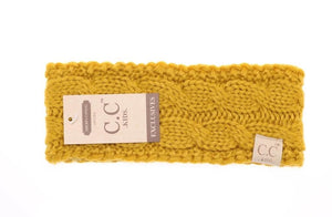 KIDS Solid Cable Knit CC Head Wrap