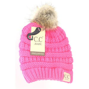 BABY Fur Pom CC Beanie (Infant)