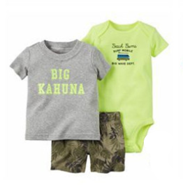 "Infant Boy's ""Big Kahuna""  3PC  Short Set"