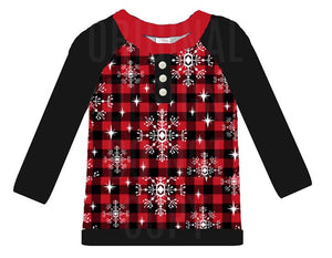 Boy's Buffalo Plaid Christmas Shirt