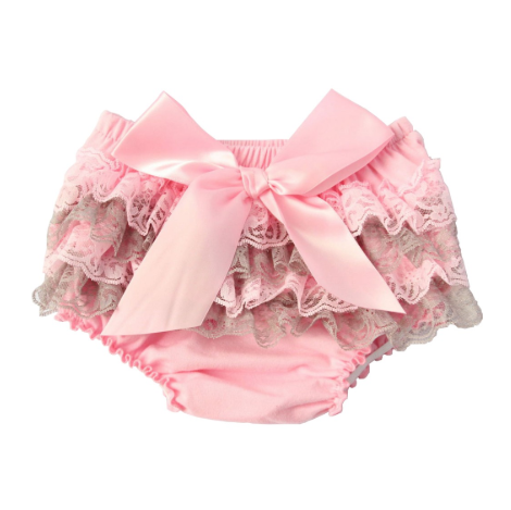 Infant Girl's Satin &  Lace Bloomers