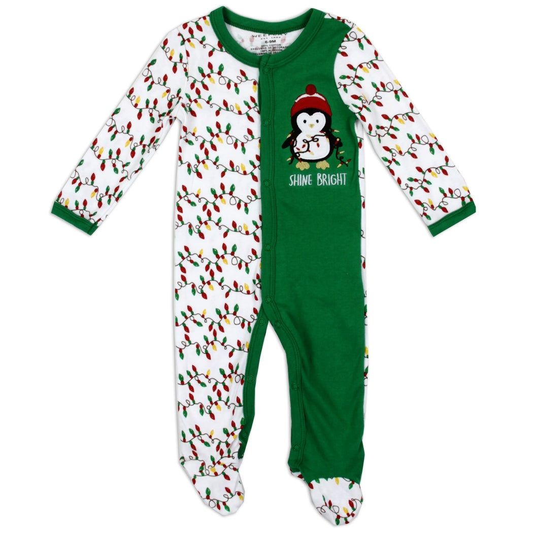 Shine Bright Penguin Infant Coverall