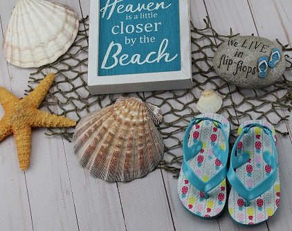 Infant Girl's Pineapple Flip Flops