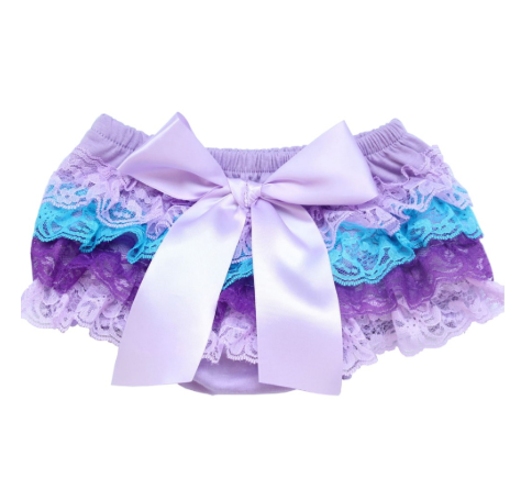 Girl's Lace Bloomers - Purple