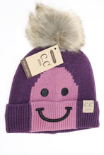 Kids Smiling Lined Fur Pom CC