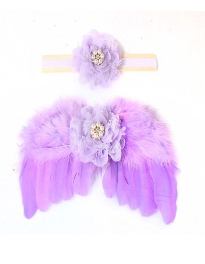 Infant's Purple Wing Set