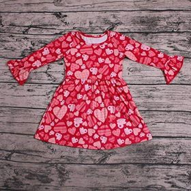Girl's Red Hearts Twirl Dress