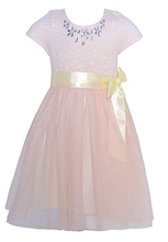Girl's Blush Pink Holiday/Party Dress - Sophie