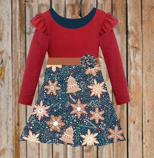 Christmas Tree & Snowflake Holiday Dress