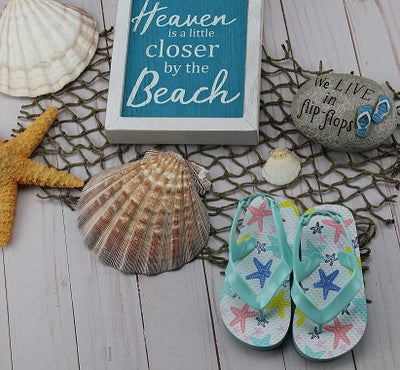 Infant Girl's Starfish Flip Flops