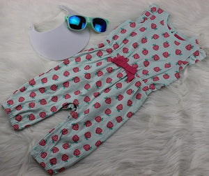 Infant Girl's Strawberry One-Piece Romper