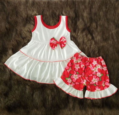 Girl's 2PC Strawberry Short Set