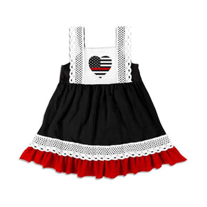 Girls Thin Red Line Dress