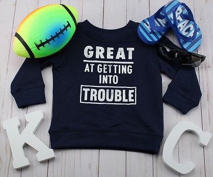 Boy's Navy Sweatshirt