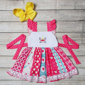 Unicorn Heart Twirl Dress