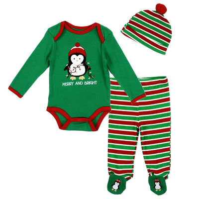 Penguin Merry & Bright 3PC Set