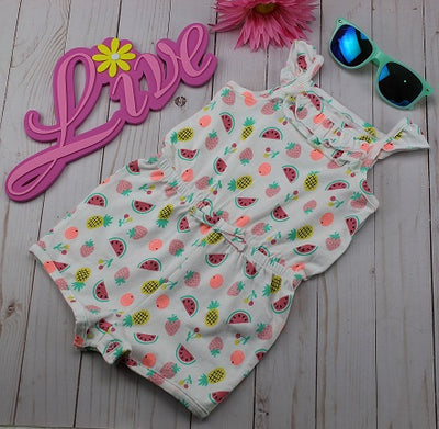 Infant Girl's  Romper- Watermelon, Strawberry & Pineapples