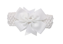 Girl's - Knitted Headband - White