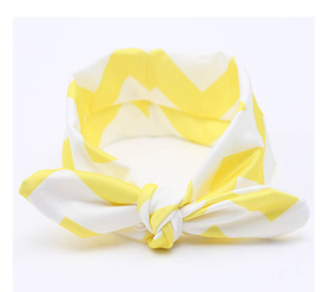 Yellow Chevron Headband Fabric Knot Headband