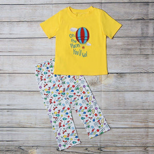 "Boy's and Girl's ""Oh the Places You Will Go""  2PC Set"