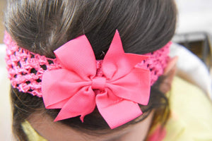 Girl's - Knitted Headband - Hot Pink