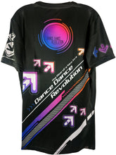 Load image into Gallery viewer, DDR RAINBOW ARROWS DARK SHIRT