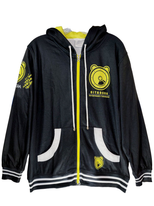 GITADORA YELLOW DARK ZIPPER HOODIE