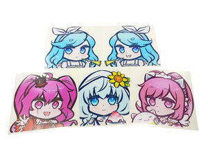 SOUND VOLTEX CHIBI DIE-CUT DECALS