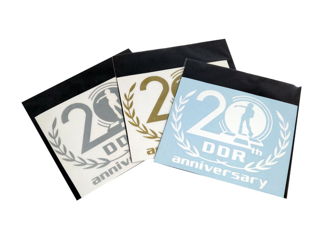 DDR 20th ANNIVERSARY DECAL