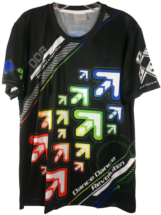 DDR NOTE ARROWS DARK SHIRT