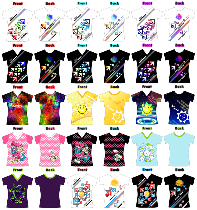 DDR IIDX SDVX PIU WOMEN V-NECK SHIRTS