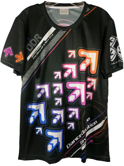 DDR RAINBOW ARROWS DARK SHIRT