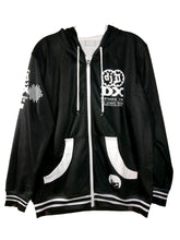 Load image into Gallery viewer, IIDX WHITE DARK ZIPPER HOODIE