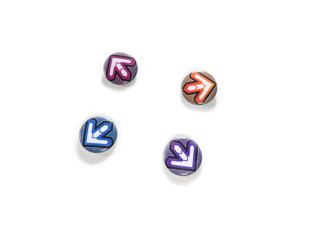 DDR RAINBOW ARROW BUTTON SET