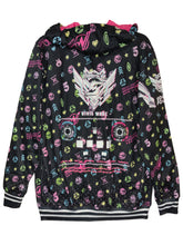 Load image into Gallery viewer, SDVX 5 VIVID WAVE DARK ZIPPER HOODIE