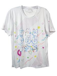 DANCERUSH STARDOM GRAPHIC WHITE SHIRT