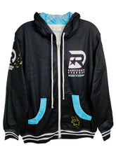 Load image into Gallery viewer, DANCERUSH STARDOM DARK ZIPPER HOODIE