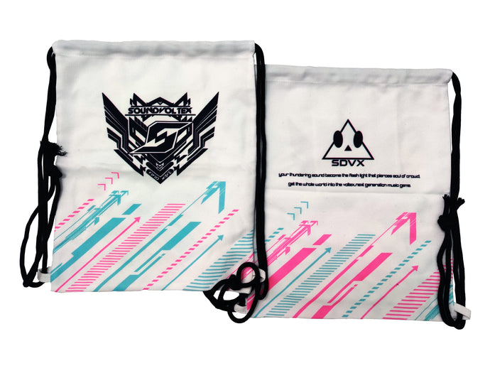 SDVX WHITE DRAWSTRING BAG