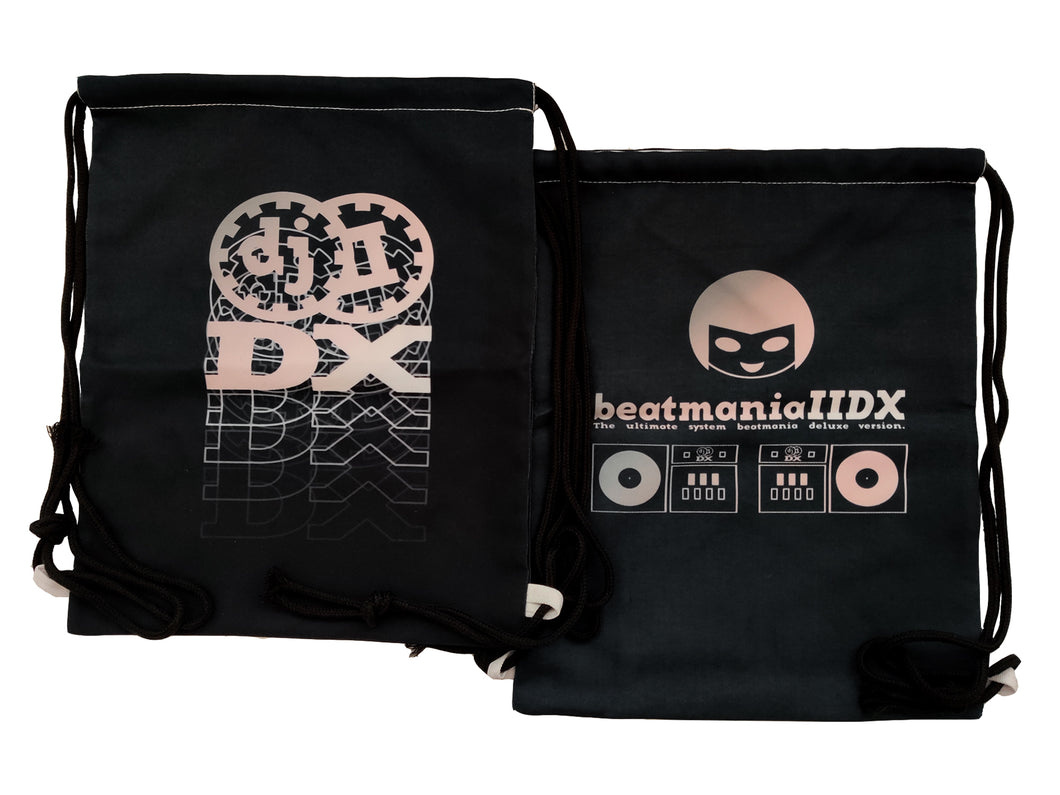 IIDX BLACK DRAWSTRING BAG