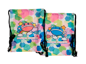 POP'N MUSIC DRAWSTRING BAG