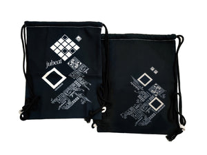 JUBEAT BLACK DRAWSTRING BAG