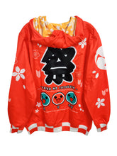 Load image into Gallery viewer, TAIKO RED ZIPPER HOODIE